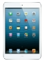 Fotografía Frontal del Tablet Apple iPad Mini WiFi Blanco y Plata. En la pantalla se muestra Pantalla de inicio