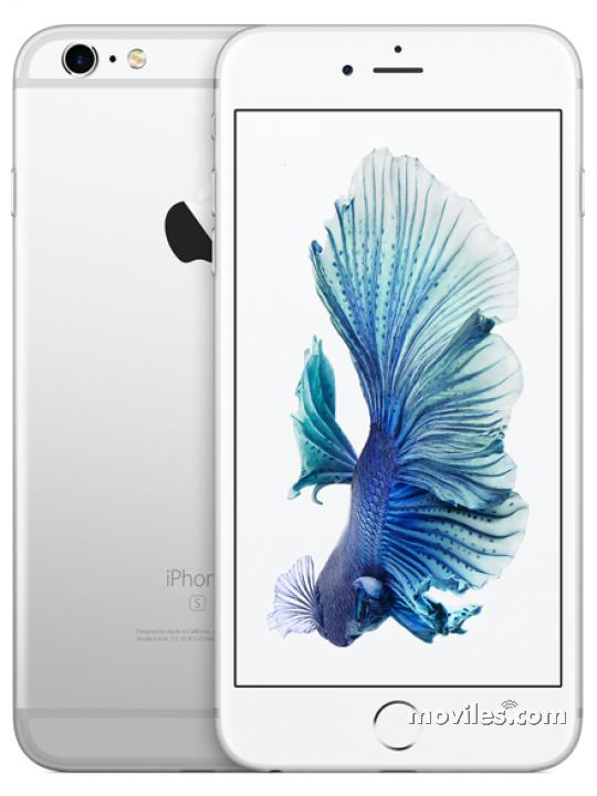 Cámaras delantera y trasera del iPhone 6S blanco
