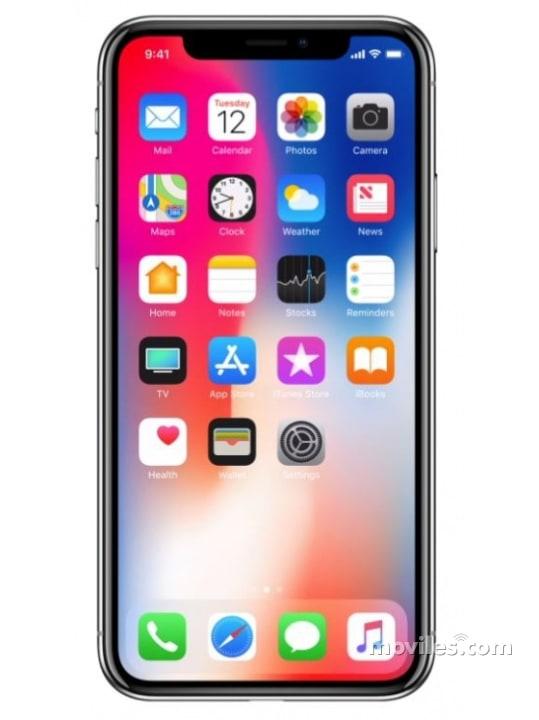 Fotografías Varias vistas de Apple iPhone X Gris Espacial y Plata. Detalle de la pantalla: Varias vistas