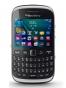 Fotografía Frontal del BlackBerry Curve 9320 Negro. En la pantalla se muestra Navegador de aplicaciones