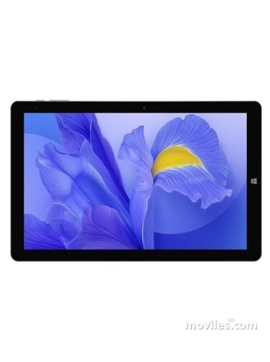 Fotografía grande Varias vistas del Tablet Chuwi Hi10 X Negro. En la pantalla se muestra Varias vistas