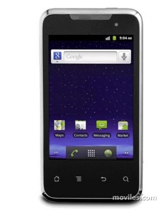 Fotografía grande Frontal del Huawei Activa 4G Negro. En la pantalla se muestra Navegador de aplicaciones