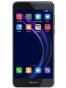 Fotografía Varias vistas del Huawei Honor 8 Azul y Blanco perla y Dorado y Negro y Rosa. En la pantalla se muestra Varias vistas