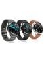 Fotografía Varias vistas del Huawei Watch GT 2 46mm Negro y Titanio. En la pantalla se muestra Varias vistas