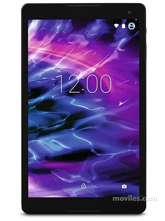Fotografías Varias vistas de Tablet Medion LifeTab P10505 Negro y Rojo. Detalle de la pantalla: Varias vistas