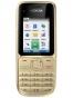 Fotografía Frontal del Nokia C2-01 Oro. En la pantalla se muestra Pantalla de inicio