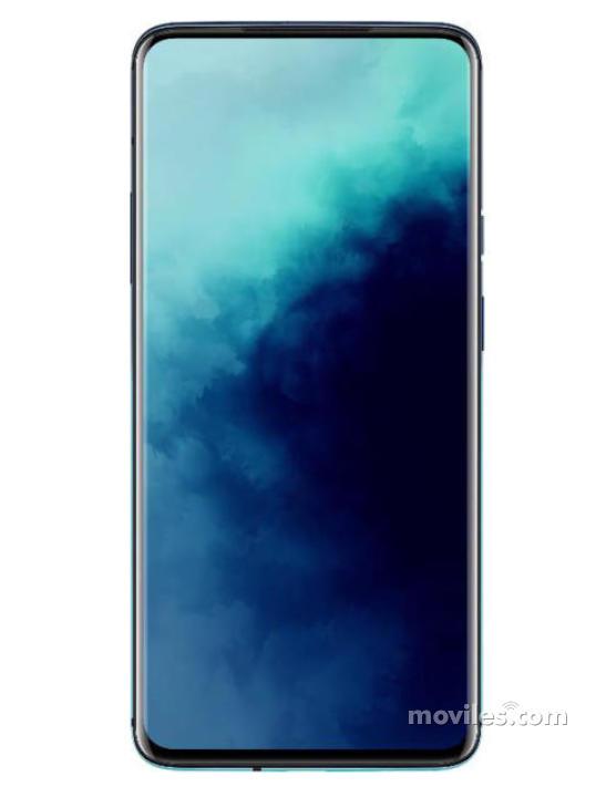 Fotografía grande Varias vistas del OnePlus 7T Pro Azul. En la pantalla se muestra Varias vistas