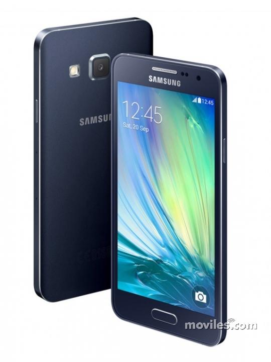 Diseño frontal y trasero del Galaxy A3