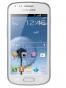 Fotografía Frontal del Samsung Galaxy Trend Blanco. En la pantalla se muestra Pantalla de inicio