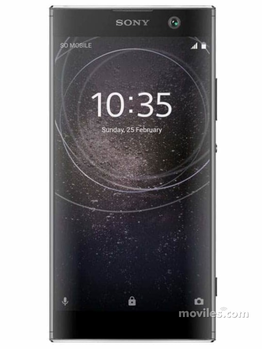 Fotografía grande Varias vistas del Sony Xperia XA2 Azul y Negro y Plata y Rosa. En la pantalla se muestra Varias vistas