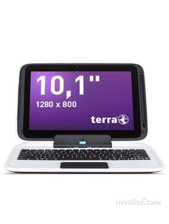 Fotografías Varias vistas de Tablet Terra 1040 Pro Blanco. Detalle de la pantalla: Varias vistas