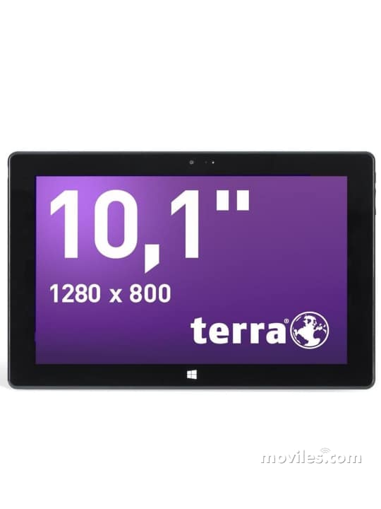 Fotografías Varias vistas de Tablet Terra Pad 1060 Negro. Detalle de la pantalla: Varias vistas