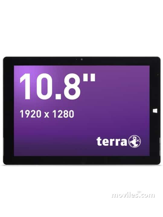 Fotografías Varias vistas de Tablet Terra Pad 1062 W10 Blanco. Detalle de la pantalla: Varias vistas