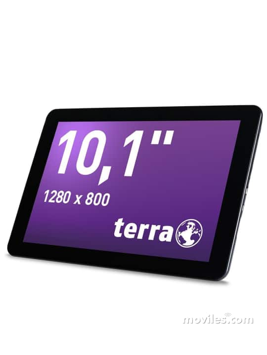 Fotografías Varias vistas de Tablet Terra Pad 1004 Negro. Detalle de la pantalla: Varias vistas