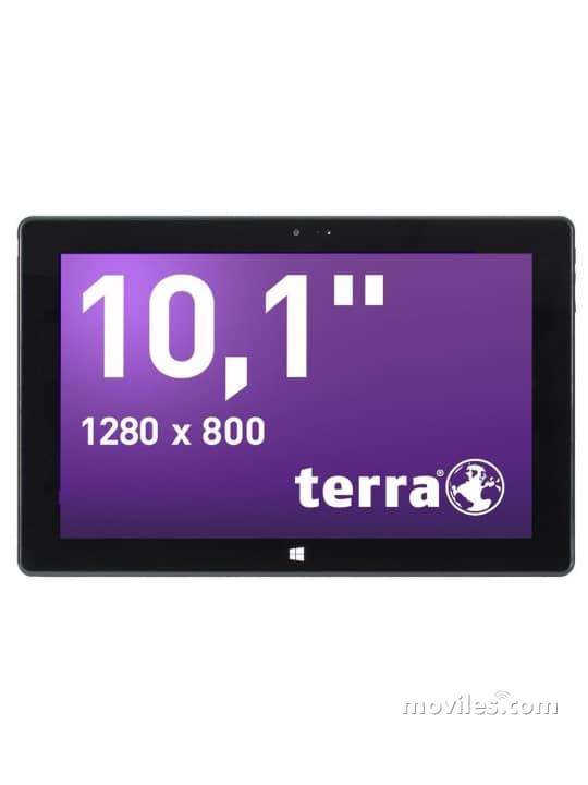Fotografías Varias vistas de Tablet Terra Pad 1061 Pro Negro. Detalle de la pantalla: Varias vistas